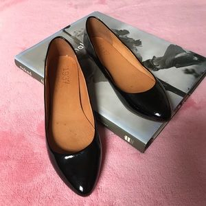 MADEWELL patent black leather flats